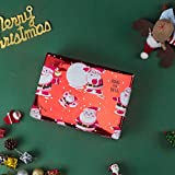 RUSPEPA Christmas Gift Wrapping Paper - Red and
