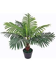 yanka-style Konstgjord palm med kruka ca 60 cm hög konstgjord växt konstträd konstpalm träd blomma konstgjord blomma dekoration present (JWP231)