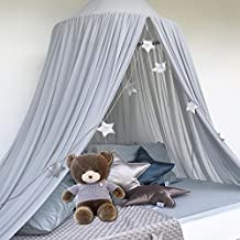 Mosquito Net Canopy, Chiffon Dome Reading Nook Tent for Baby Kids Indoor Outdoor Playing Reading (Grey)