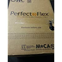 Perfectflex Coaxial Cable 6 Series 500 Ft Rg6 Trishield 77 Braid White Color Copper Clad Steel