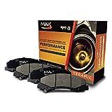 Rear Max Performance Ceramic Disc Brake Pads KT071452 | Fits: 2008 08 2009 09 2010 10 2011 11 Dodge Grand Caravan