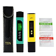 XCSOURCE 3in1 TDS+EC+Temp Meter and Ph Meter with Auto Calibration Button, Digital Accuracy Water Quality Monitor Pen Style Portable Tester BI715
