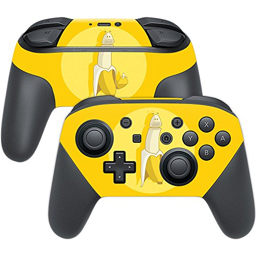 MightySkins Skin Compatible with Nintendo Switch Pro Controller - Banana Inception   Protective, Durable, and Unique Vinyl wrap Cover   Easy to Apply, Remove, and Change Styles   Made in The USA