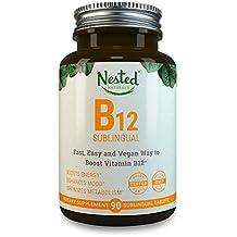 VITAMIN B12 SUBLINGUAL | 2500mcg Methylcobalamin | 90 Fast Dissolve Vegan Tablets | Boost Natural Energy + Supplement B 12 Deficiency in Men & Women | 2500 mcg Methyl Vit B Tabs | Dissolvable Vitamins