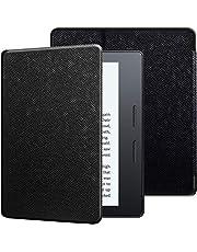 Capa Kindle Oasis, WB, Auto Liga/Desliga Ultra Leve Sensor Magnético, Couro, Preta, para Kindle Oasis 10ª e 9ª