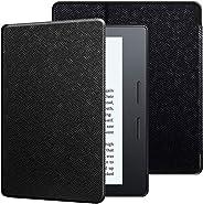 Capa Kindle Oasis, WB, Ultra Leve Sensor Magnético, Couro, Preta, para Kindle Oasis 10ª e 9ª