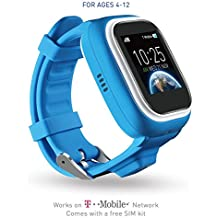 TickTalk 1.0S Touch Screen Kids Smart Watch, GPS Phone Watch, Top Rated Positioning Chip, Phone/Messaging (SIM CARD INCLUDED) (blue)