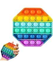 Brinquedo Colorido Hexágono Pop It Fidget Toy Anti Stress Sensorial Aumenta Criatividade [FIT IT]