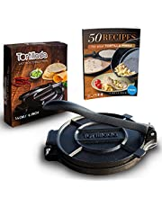 Tortillada – Premium Cast Iron Tortilla Press with Recipes E-Book