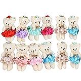Sealive Stuffed Animals Plush Bears (1 Dozen), Mini Teddy Bear Stuffed Animal Bulk Assorted Toys For Birthday Cake Wedding Decorations Party Favors Supplies