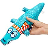 Canvas Crocodile Resistance to Dogs Chew and Squeaky Toys for Dogs,Canvas Dog Toy,Dog Chew Toy,Pet Toys for Dogs Chew,Chew Molar Toys for Dogs and Cats,Pet Trainer Toys.