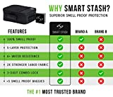 Smell Proof Bag - SMART STASH Smell Proof Case with Lock - Smell Proof Containers