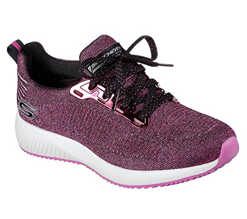 Skechers Bobs from Womens Bobs Squad-Glossy Finish Fashion Sneaker Hot Pink