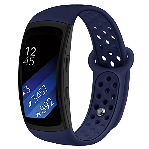 Band Compatible Gear Fit2 Pro /Fit2 , Kmasic Silicone Sport Replacement Strap for Samsung Gear Fit 2 Pro & Fit 2, Ocean Blue