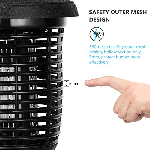 YUNLIGHTS Electric Bug Zapper, 40W Outdoor Mosquito Killer Lantern with Free Hanger, IPX4 Insect Fly Zapper Light for Patio, Gardens, Yards, Pool Area by YUNLIGHTS (Image #2)