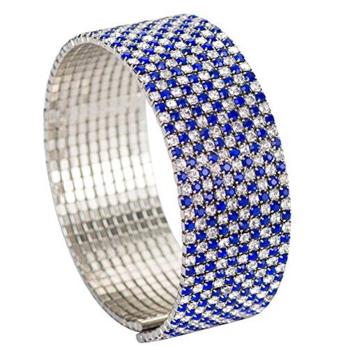 FUFENG CROWN Royal Blue Star Rhinestone Bracelets Hand catenary For Women ...