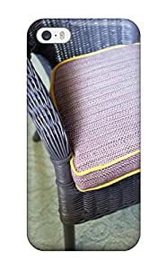 9845233K73313013 Case Cover Iphone 5/5s Protective Case Purple Wicker Armchair