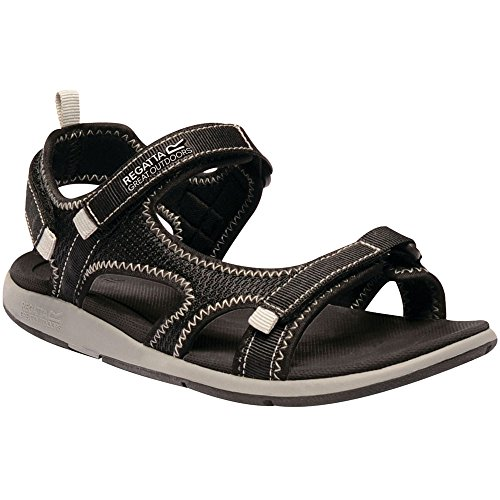 Regatta Womens/Ladies Ad-Flo Lightweight Adjustable Strap Sandals Black/LtStee RVior0S