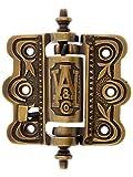 Decorative Cast Brass Screen Door Hinge In Antique-By-Hand