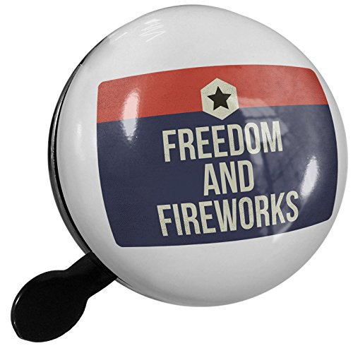 Small Bike Bell Freedom and Fireworks Fourth of July Patriotic Star - NEONBLOND by NEONBLOND