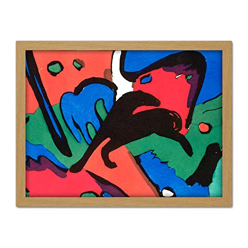 (Franz Marc and Wassily Kandinsky The Blue Rider Large Framed Art Print Poster Wall Decor 18x24)