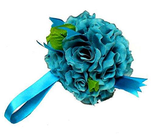 Artificial Silk Kissing Flower Ball Bouquet Wedding (light green) - 8