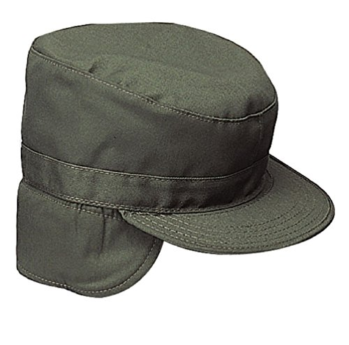 Fatigue Style Hat - Military Ear Flap Combat Hats Army Style Winter Fatigue Caps W/Earflaps S-Xl