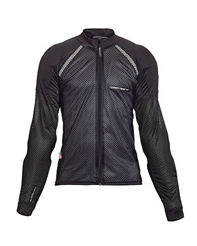 Bohn All-Season Airtex Armored Riding Shirt - Black - Medium ()