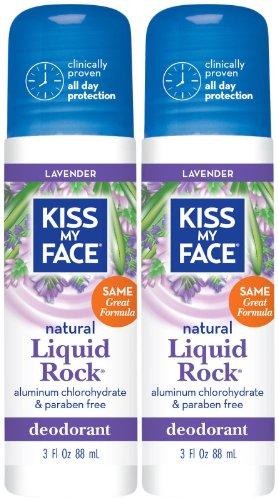 Kiss My Face Paraben Free Liquid Rock Roll-On Deodorant, Lavender - 3 oz - 2 pk