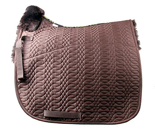 (merauno Sheepskin GP Saddle Pad Full Blanket Dressage Jumping Numnah Saddlecloth & Square Saddle Pads Horse Riding Show General Purpose Pad)