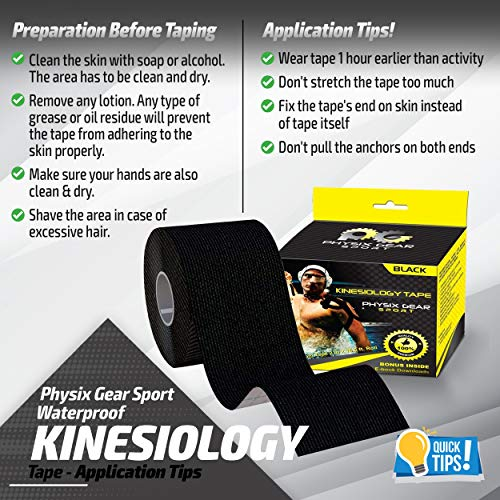 Physix Gear Sport Kinesiology Athletic Tape Sports Injury Tape