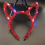 2018 New Colorful LED Light Up Glowing Bunny Ears Headband Women Girls Ing Hair Accessories Halloween Glow Par