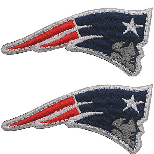 New England Patriots Embroidered NFL Patch Hook and Loop Fasteners Backing Patches Badge Emblem Sign Applique Tactical Military Morale Patch 2.76