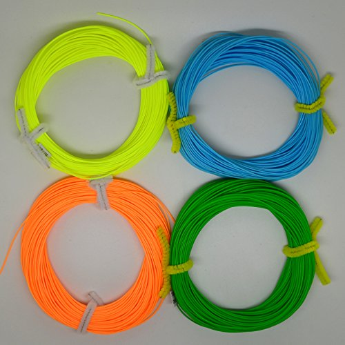 BlitzBite 100FT Weight Forward Floating (4F,5F,6F,7F,8F) Fly Fishing Lines Orange, Blue, Yellow,Green