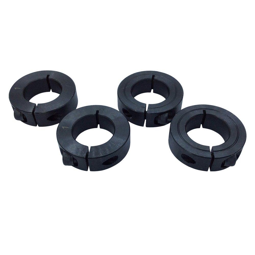 3/4' Bore Single Split Shaft Collar Black Oxide Set Screw Style (Pack of 4 PCS) KANGNAN