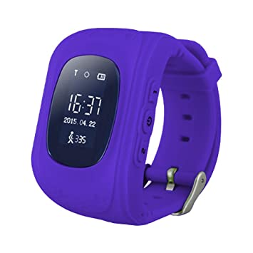 Cewaal Inteligente Reloj Bluetooth Q50 Muñequera con SOS llamada Anti-Perdida buscador para la familia de los niños Anti perdidos Reloj inteligente Niños: ...