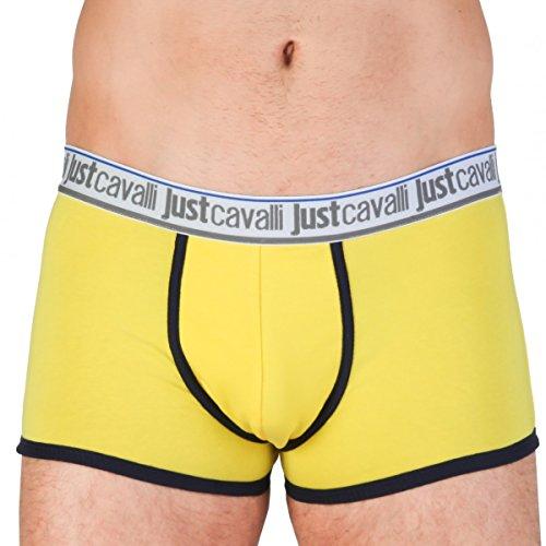 Just Cavalli Men's Underwear Single Pack Trunk A11 Black Large New w ()