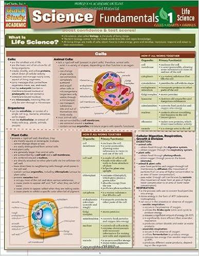 Science Fundamentals 1: Life Science: Cells, Plants, Animals (Quickstudy: Academic)
