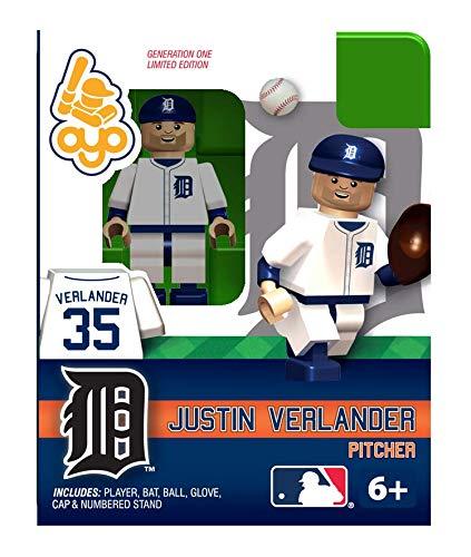 MLB Building-Toy Figure MLB Player: Detroit Tigers - Justin Verlander