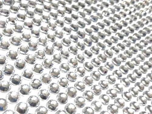CraftbuddyUS 1500 Bulk Sheet 5mm Clear Self Adhesive Diamante Stick on Rhinestone Gems -