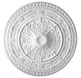 37 Inch Diameter classic Ceiling Medallion White Primed Polyurethane #585 By Designer's Edge Millwork