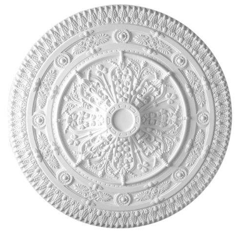 37 Inch Diameter classic Ceiling Medallion White Primed Polyurethane #585 By Designer's Edge Millwork by Designer's Edge Millwork