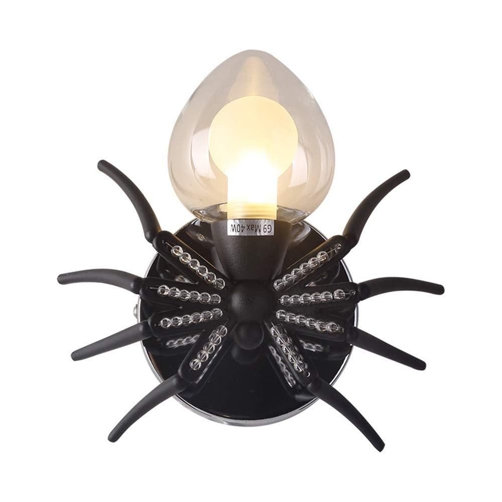 Nordic Postmodern Creative Insect Spider Wandleuchte Leuchte Europäischen Amerikanischen Stil Wandlampen Kristall Dekoration Wohnzimmer Schlafzimmer,A
