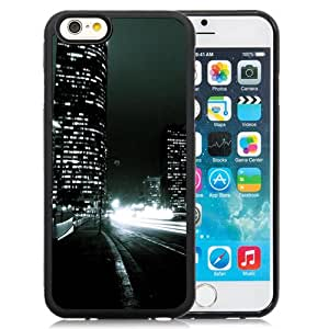 NEW Unique Custom Designed iPhone 6 4.7 Inch TPU Phone Case With Buildings At Night_Black Phone Case