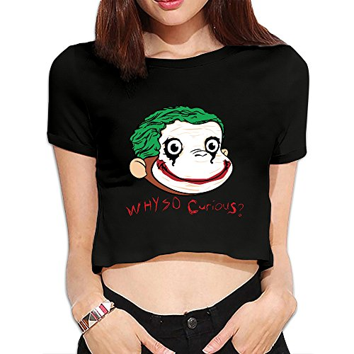 curious-george-lady-dew-navel-t-shirt-black-l