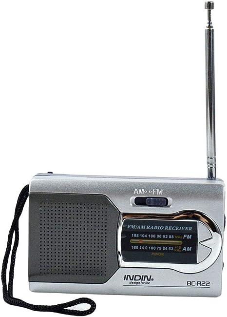 EASON Mini Jugador, portátil pequeña Radio Antena telescópica ...