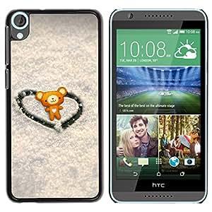 Paccase / SLIM PC / Aliminium Casa Carcasa Funda Case Cover - Love Cute Heart Bear - HTC Desire 820