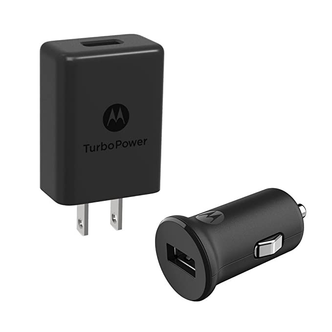 Motorola Car + Home Bundle- 1 TurboPower 15 USB-A car charger + 1