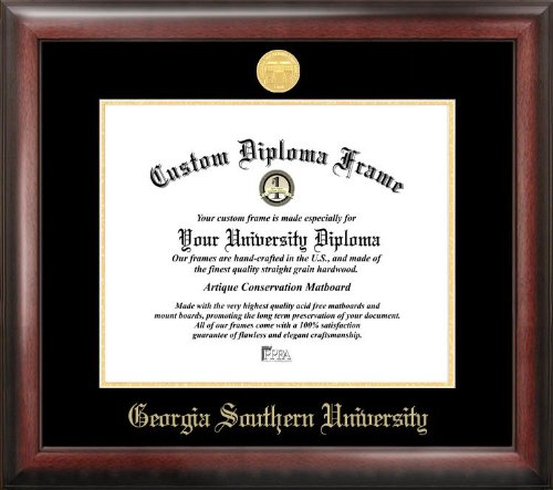 Campus Images ''Georgia Southern Embossed Diploma'' Frame, 12'' x 15'', Gold by Campus Images