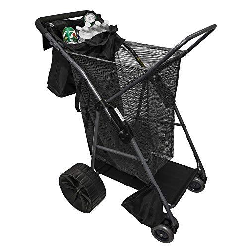 Luxorware All Terrain Giant Wheel Beach cart Shopping cart w/Beach Umbrella Holder